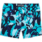 Men Flat belts Printed - Camouflage Turtles Fitted cut Swim shorts, Azure back