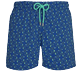 Men Stretch classic Printed - Men Swim Trunks Stretch Nataraja, Batik blue front