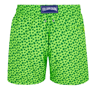 Men Ultra-light classique Printed - Men Swim Trunks Ultra-Light and Packable Micro Ronde des Tortues Fluo, Neon green back