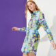 Women Others Printed - Women Cotton Shirt Dress Kaleidoscope, Lagoon supp2