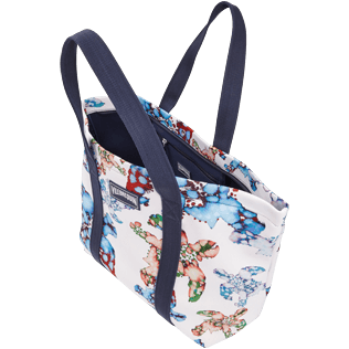 Autros Estampado - Bolsa de playa grande con estampado Watercolor Turtles, Blanco supp1
