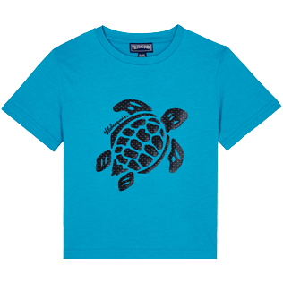 Boys Others Printed - Boys Cotton T-Shirt Turtles 3D effect, Light azure front