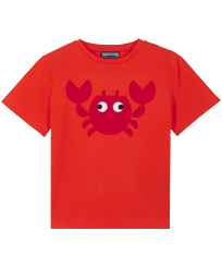Boys Others Printed - Cotton Boys T-Shirt Crabs, Medicis red front