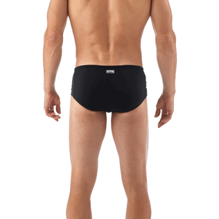 Men Short, Fitted Solid - Tuxedo Tuxedo swim briefs, Black supp2