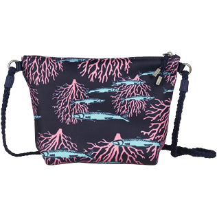 Others Printed - Beach Shoulder Bag Coral & Fish, Navy back