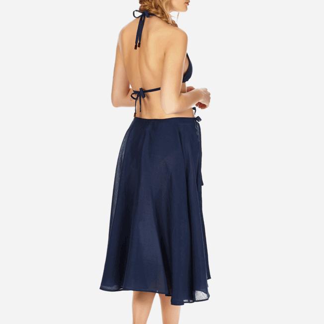 Vilebrequin - Top de triángulo en gasa de algodón liso para mujer - 3