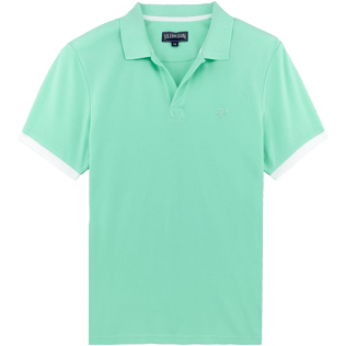 Men Others Solid - Men Cotton Pique Polo Shirt Solid, Mint front