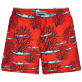 Women Others Printed - Women Swim Short Coral & Fish, Medicis red back