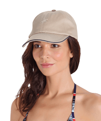Others Solid - Unisex Cap Solid, Sand frontworn