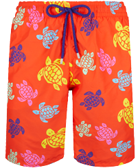 Men Long classic Printed - Men Long Swim Trunks Tortues Multicolores, Medlar front