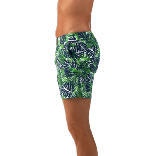 Men Fitted Printed - Madrague Fitted cut Swim shorts, White supp1