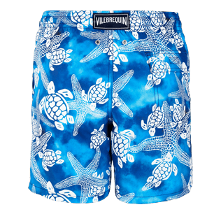 Men Classic Printed - Men Swimtrunks Starlettes & Turtles Vintage, Neptune blue back