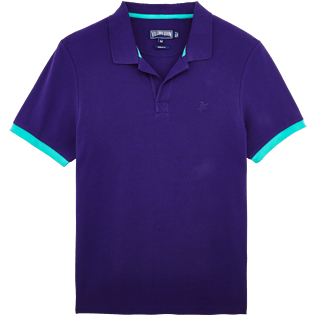 Men Others Solid - Men Cotton Pique Polo shirt Solid, Amethyst front