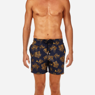 Men Classic / Moorea Printed - Prehistoric Fish Lightweight Packable Swim shorts, Navy supp1