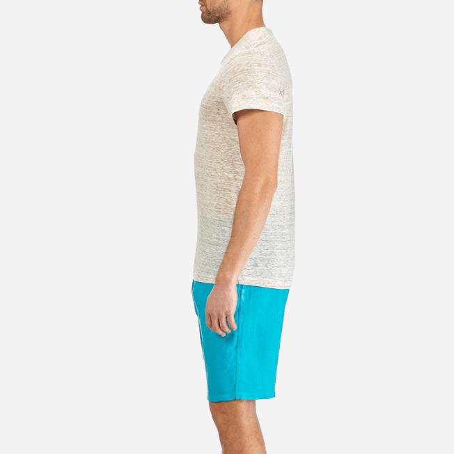 Vilebrequin - Camiseta de lino lisa para hombre - 7