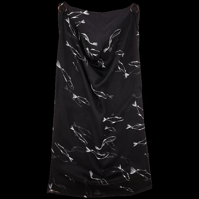 Vilebrequin - Vestido en gasa de algodón con cuello vuelto holgado y estampado Fish Dance para mujer - 2