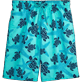 Men Long classic Printed - Starlettes & Turtles Long Cut Swim shorts, Lagoon front