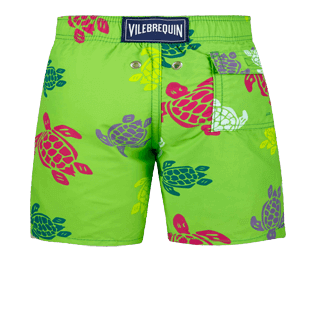 Boys Others Printed - Boys swimtrunks Tortues Multicolores, Grass green back