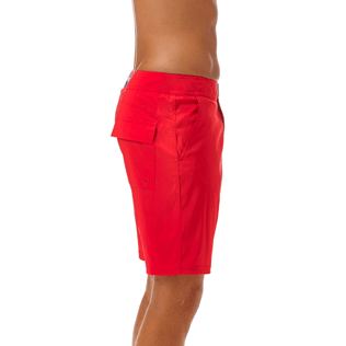 Men Long Solid - Solid Superflex Long fitted cut Swim shorts, Poppy red supp1