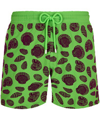 Men Ultra-light classique Printed - Men Swimwear Ultra-light and packable Shell Game Flocked, Neon green front