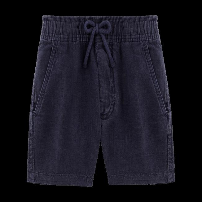 Vilebrequin - Boys Linen Bermuda Shorts Solid - 1