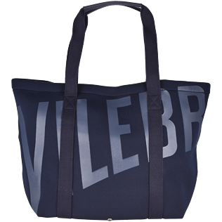 Bags Printed - Neoprene Canvas beach bag, Navy front
