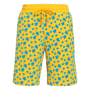 Men Long classic Printed - Men Long Flocked swimtrunks Micro Ronde Des Tortues, Mango front