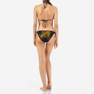 Women Classic brief Printed - Prehistoric Fish Bikini brief, Navy backworn