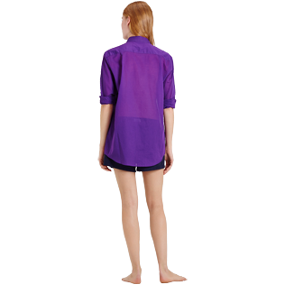 Others Solid - Solidsex Cotton Voile Light Shirt Solid, Plum supp6