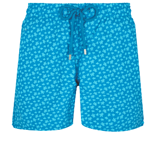 Men Classic Printed - Men Swimwear Micro Ronde des Tortues, Hawaii blue front