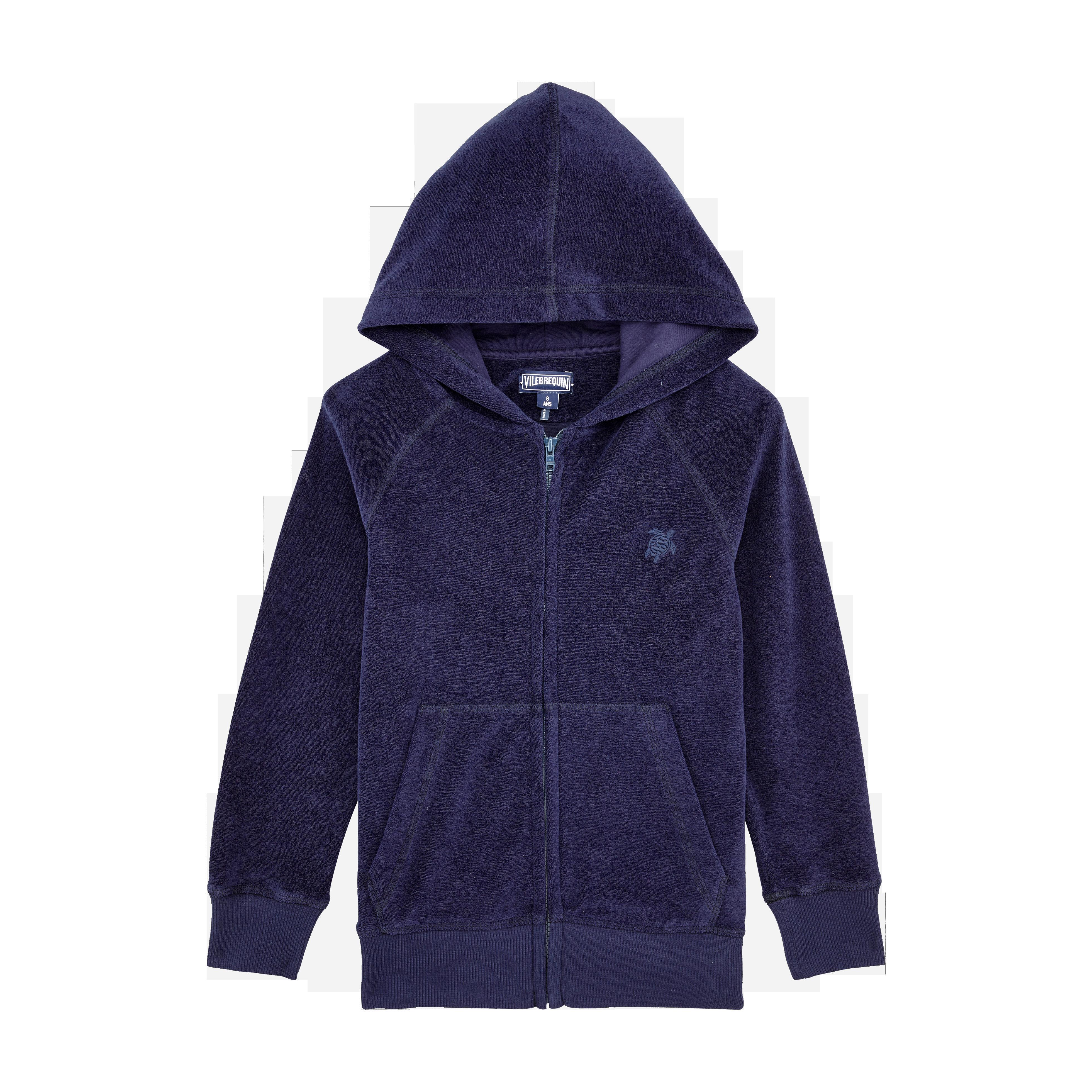 PRET A PORTER GARCON - Sweatshirt à capuche en Eponge Garçon Uni - SWEAT - RYAN - Bleu - 12 - Vilebr