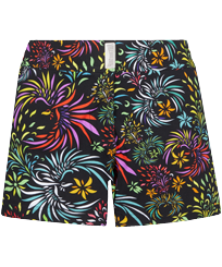Women Others Printed - Stretch Women Swim Short Evening Birds, Black front