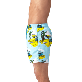 Men Classic / Moorea Printed - Sunny Car Swim shorts, Frosted blue supp1