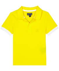 Boys Others Solid - Boys Cotton Pique Polo Shirt Solid, Safran front