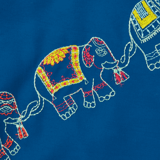 Men Classic Embroidered - Men Swimwear Embroidered Elephants Dance - Limited Edition, Goa supp3