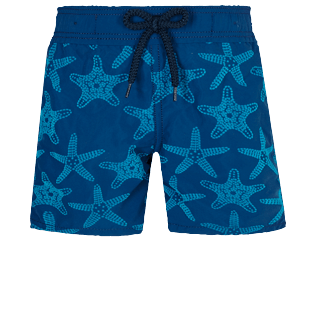 Boys Others Printed - Boys Swim Trunks Starfish Dance, Goa front