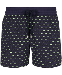 Men Stretch classic Magic - Men Swim Trunks Stretch Crabs Glow in the dark, Midnight blue front
