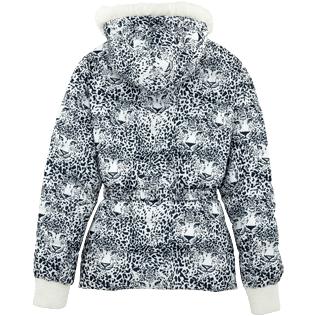 Women Vests AND Jackets Printed - Snow Tiger Reversible Down Jacket, White back