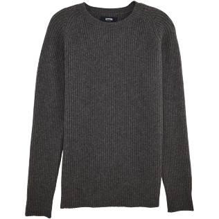 Men Sweaters Solid - Mongolian cashmere crewneck sweater, Grey front