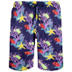 Men Long classic Printed - Men Swim Trunks Long Ultra-light and packable Fonds Marins, Sapphire front