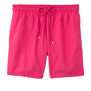 Men Classic Solid - Men swimtrunks Solid, Shocking pink front