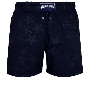 Men Stretch classic Magic - Men Stretch Swim Trunks Starfish Dance Diamond, Navy back