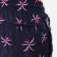Men 017 Embroidered - Men Ultra-Light and packable embroidered Swimwear Palm Beach - Limited Edition, Navy supp1