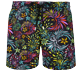 Men Stretch classic Printed - Men Swimwear Stretch Evening Birds, Black front