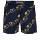 Men Classic Embroidered - Men Swim Trunks Embroidered Elephant Dance - Limited Edition, Navy back