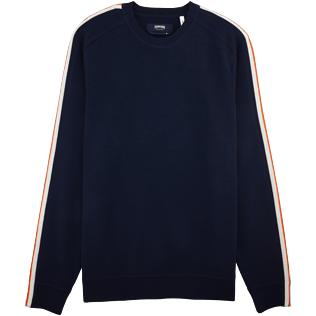 Men Sweaters Solid - Italian marino wool ski sweater, Navy front