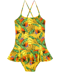 Girls Others Printed - Girls One piece Swimsuit Go Bananas, Curry front