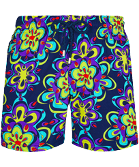 Men Stretch classic Printed - Men Stretch Short Swim Trunks Kaleidoscope, Sapphire front