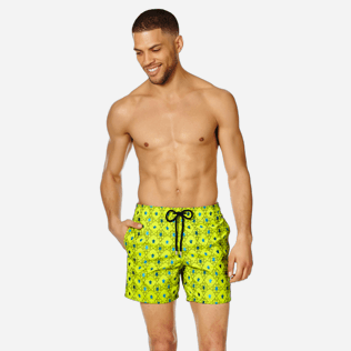 Men Embroidered Embroidered - Men Swimwear Embroidered Squad Turtles - Limited Edition, Chartreuse frontworn