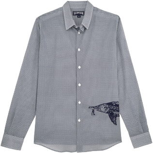 Others Printed - Unisex Cotton voile Shirt Belle ou Gars, White front